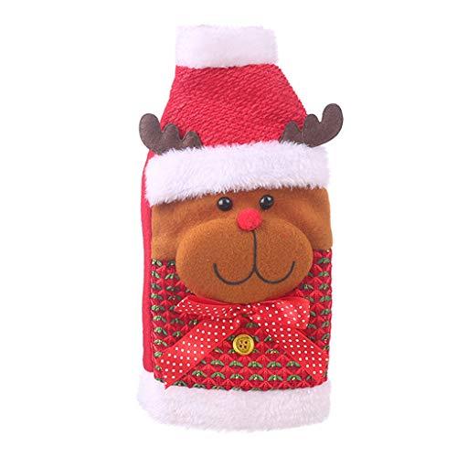 Weihnachtsschmuck Pullover Flaschen Sets Weinflaschenset Rotweinflasche Kleidung ◆Elecenty◆ Old Man Flasche Weihnachtsmann Dress Up -