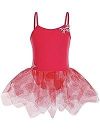 HUANQIUE Justaucorps Danse Classique Fille Robe Ballet Débardeur avec Tutu  Papillon 5 Couleurs 5b9e331d4df