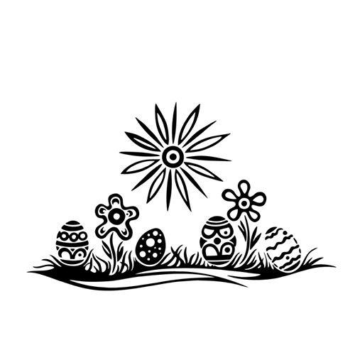 tur Stil Wohnzimmer Diy Abnehmbare Wasserdichte Ostereier Auf Dem Rasen Wandaufkleber Home Decor Ostereier Bunny Kaninchen ()