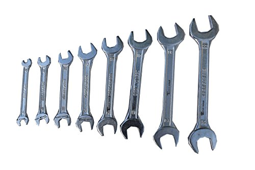 TOOLSWALE Double Open End DOE Spanner Set of 8 Pcs Without Rack (6x7,8x9,10x11,12x13,14x15,16x17,18x19,20x22 )  available at amazon for Rs.349