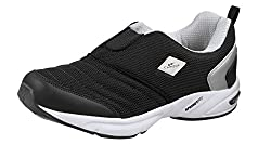 Campus MONTAYA Model Black and Silver Color Sport Running Shoes (Size -7 UK )