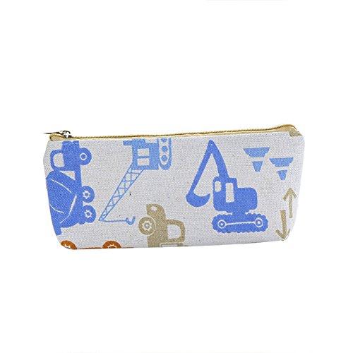 Pinsel Mascara Waschbar (Lumanuby 1x Karikatur Bagge Stifteetui für Stifte Bleistifte oder Radiergummi Segeltuch Kosmetiktasche für Lippenstifte Mascara oder Make-up Pinsel für Mädchen und Damen Zufällige Farbe, Mäppchen Serie size 19.5*8.5*3.5CM)