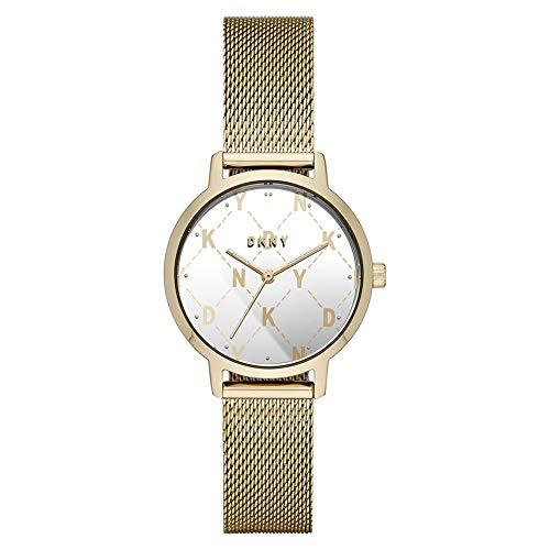 DKNY Damen-Uhren Analog Quarz One Size Gold Edelstahl 32001753
