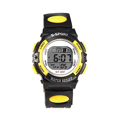 Originaltree Studentenbewegung Multifunktionale Bunte, Lichtdichte Uhr Yellow