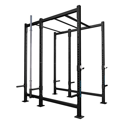 CAPITAL SPORTS Dominate Edition Set 9 Basis-Rack Power-Rack Rig Power-Cage Cross-Trainings-Box mit Double-und Single Klimmzugstangen (1x Paar J-Cups, Gewichtsscheiben-Halterungen, Hantelhalterung)