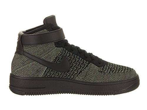 Nike Af1 Ultra Flyknit Mid, Scarpe da Basket Uomo palm green, black-white