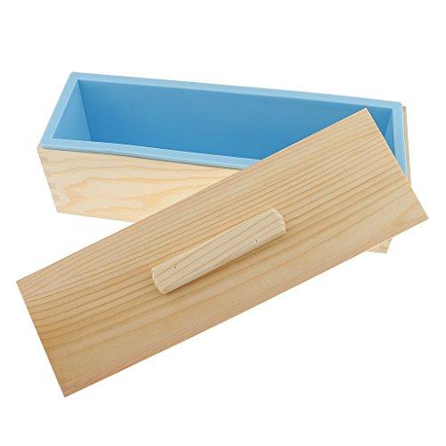 Sharplace Moules à Savon DIY en Silicone Rectangulaires 100% Fait à la Main Porte-Savon pour Savonnettes à la Maison Reutilisable - Bleu, 1200mL