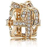 Pandora Damen-Charm Funkelnde Überraschung 585 Gelbgold Zirkonia transparent Brillantschliff - 750839CZ