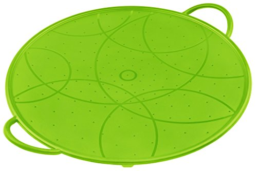KUHN RIKON 23632 Küchenhelfer Accessoires Silikon Spritzschutz grün klein 26 cm mit Löchern backofenfest Kuhn Rikon Cookie