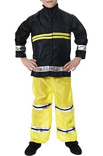 Hi Fashionz Kids Feuerwehrmann Kost�m Feuerl�scher Erwachsene Feuerwehrmann Cosplay Zubeh�r Kind Feuerwehrmann Kost�m Gro�e (10-12 Jahre)