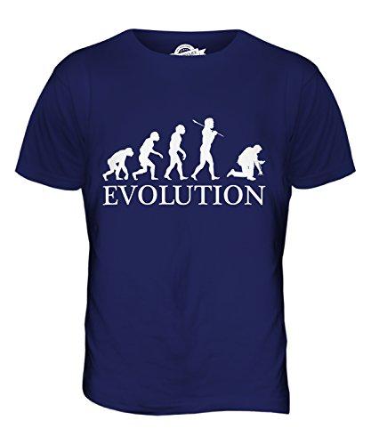 CandyMix Elektroinstallateur Elektriker Evolution Des Menschen Herren T Shirt Navy Blau