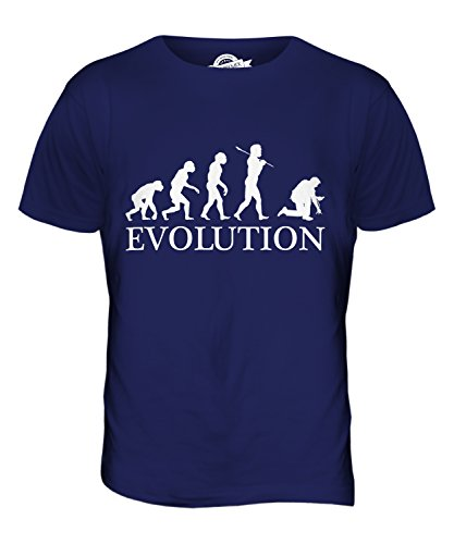 CandyMix Elettricista Evoluzione Umana T-Shirt da Uomo Maglietta Blu Navy