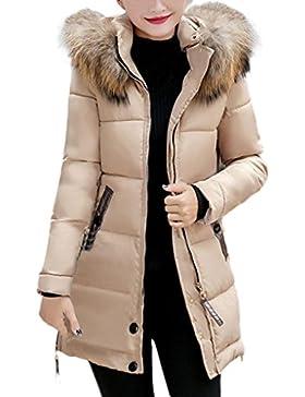 Odejoy Donne Donne sottili con cappuccio lungo imbottito in inverno caldo Outwear Giacca di cappotto grande cappuccio...