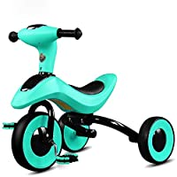 BABYGAMK Children Toddler Tricycle Children Tricycle Foldable Bicycle 2-3-6 Years Old Bike Baby Carriage Trike Kids 3 Wheels (Color : Blue , Size : Onesize )