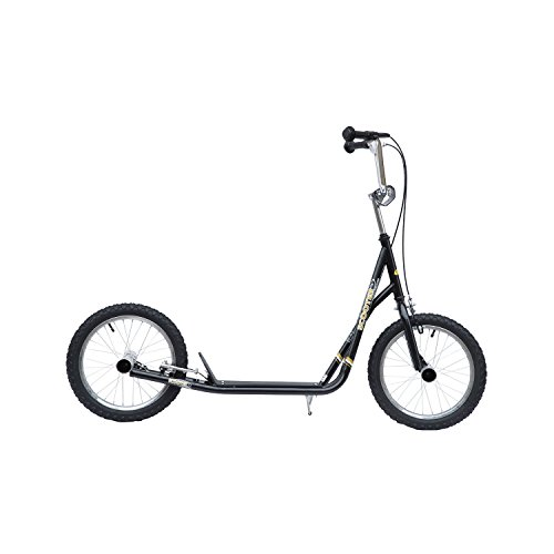 Outsunny Premium Monopattino Scooter a rotelle 16 pollici Cityroller per bambini e ragazzi, nero