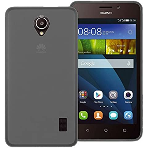 TBOC® Funda de Gel TPU Negra para Huawei Ascend Y635 de Silicona Ultrafina y Flexible