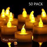HANZIM Lot de 50 Bougie LED à Piles avec Flamme Vacillante, Décoration pour Table Fête Party Anniversaire Mariage