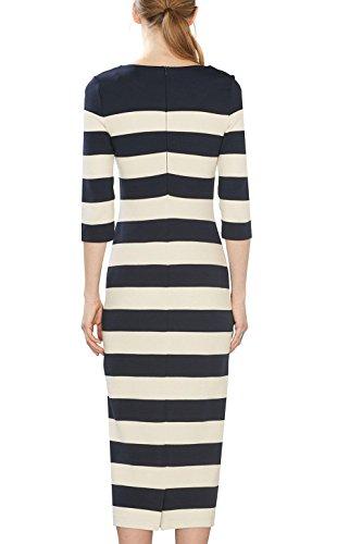 ESPRIT Damen Kleid 027ee1e016 Mehrfarbig (Navy 2 401)