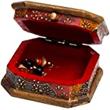 Rajasthani Home Decor Handicrafts | Home Decor Gifts | Home Decorative Items In Living Room, Bedroom | Unique Wooden Jewellry Cosmastic Handicraft Box-3