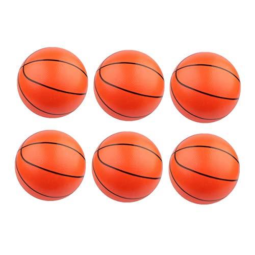 Amosfun 6pcs aufblasbare Basketball-Strand-Bälle-Spielzeugsport themenorientierte Geburtstagsfeier bevorzugt Spieldekorationen