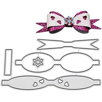 YiFeiCT Arc Cravate Amour Cravate en M/étal D/écoupage Pochoirs DIY Scrapbooking Album Tampon Papier Carte gaufrage Artisanat D/écor