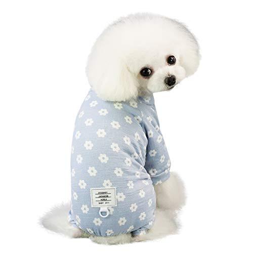 Hawkimin mops Bekleidung Mode niedlichen Haustier Pyjamas Hund Kleidung Blumendruck vierbeinigen kleinen Gänseblümchen Muster Hosen