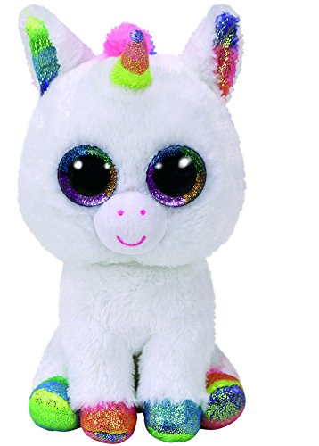 Beanie Boo Unicorn - Pixy, Unicorn - White/Multicoloured - 24cm 9""