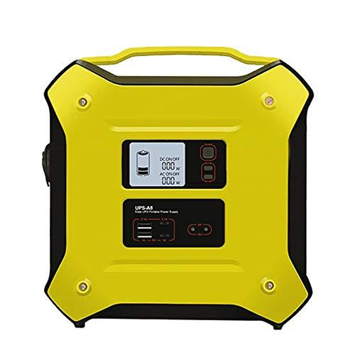 Tragbare Generator Power Solarbatterie, 12V AC DC 500W Unterbrechungsfreie Multifunktions-Energiespeicher Notstromversorgung für Outdoor-Camping zu Hause aufgeladen