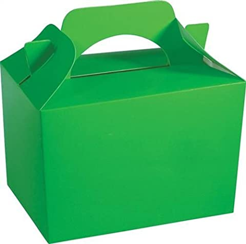 10 x LIME GREEN Kid Childrens Plain Activity Food Loot Favour Birthday Party Bag Gift Box Wedding Toy Christmas