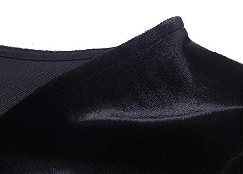 V-neck robe de personnalité de la mode robes à manches longues de tempérament - noir s