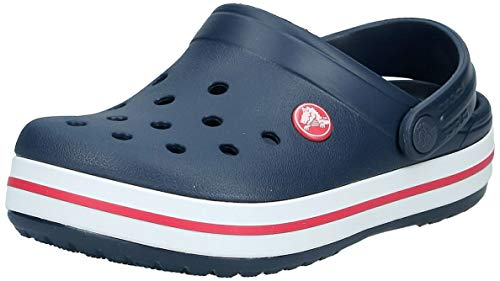 crocs Crocband Clog Kids, Unisex-Kinder Clogs, Blau (Navy/Red), 32/33