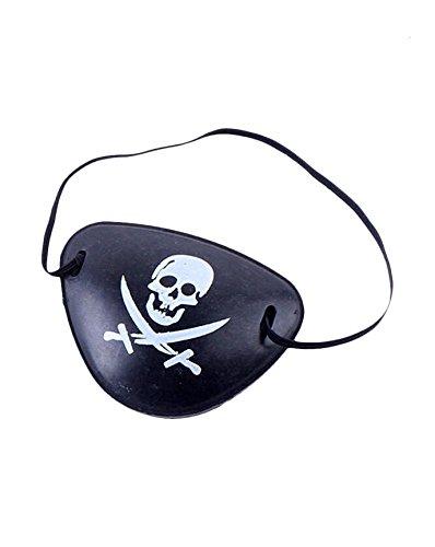 GIRM® - 8337 - Benda occhio pirata, benda per costume