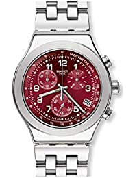 f2c425f8c1f Swatch Mens Chronograph Quartz Watch with Stainless Steel Strap YVS456G