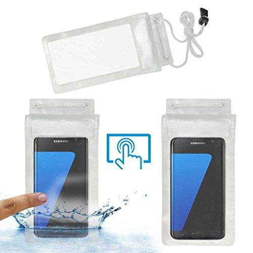 Acm Waterproof Bag Case for Samsung Galaxy S7 Edge Mobile (Rain,Dust,Snow & Water Resistant) Transparent