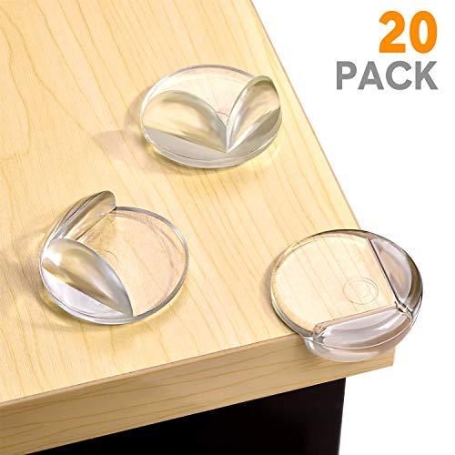 Balfer paraspigoli di protezione e sicurezza (20pcs - large - clear) protezione angoli per baby e bambino, con 20 pezzi adesivi forti per l'uso di backup