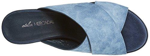 Jeans Blu Della Piattaforma Donna Blue Della Kim camoscio Laboratorio Sandali Mercadal tIaqv