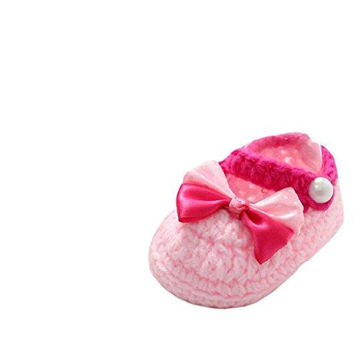 Covermason Baby Mädchen Jungen Kleinkind Schuhe Häkeln handgefertigt Strick Schuhe weiche Sohle Schuhe (Schuhe Häkeln Kleinkind)