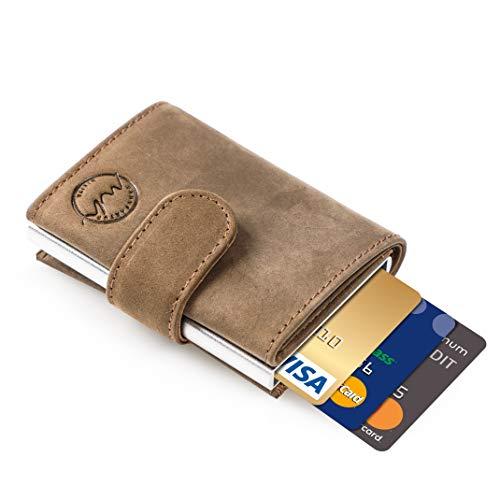 6f9437862c415 MANUFAKTUR NIKITA Kreditkartenetui mit RFID Schutz mit aus echtem Leder für  Herren und Damen Portemonnaie Geldbörse