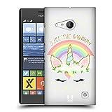 Head Case Designs Regenbogen Einhorn-Blumen Ruckseite Hülle für Nokia Lumia 730/735