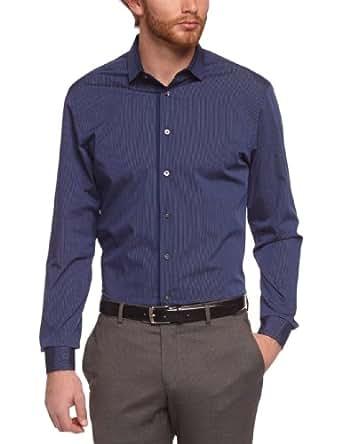 Calvin Klein - Chemise habillée - Homme - Bleu (Bleu Nuit) - FR: Small (Taille Fabricant: 38)