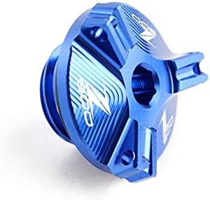 Mujun Reserve Motorrad Zubehör M20 2 5 Cnc Motorölablassschraube Sump Nut Cup Stecker Abdeckung For Kawasaki Z900 2017 2018 2019 Z900 Logo Color Blue Auto