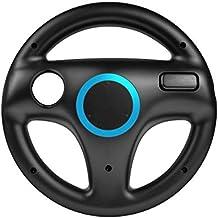 booEy® Lenkrad Wheel für Nintendo WII und Wii U Mario Kart schwarz