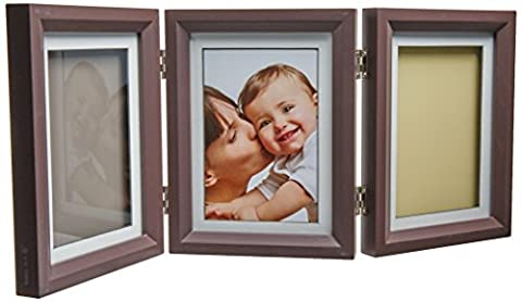 Baby Art Double Print Frame Classic (Brown & Taupe/Beige)