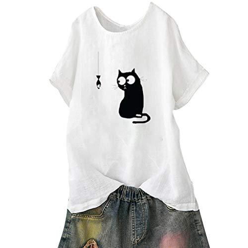 NPRADLA Frauen Tops Bluse Sommer Beiläufige Lose Print Sportswear Gym Running Pullover Plus Size Strand Vintage Crop Tank Frau T-Shirt