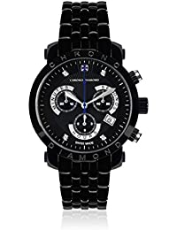 Chrono Diamond 82127_schwarz-41 mm - Reloj para hombres, correa de metal color plateado