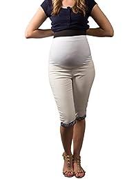 Mija Arts Umstandsmode Jeans Umstandshose ❤️ Denim Caprihose Bermuda ❤️
