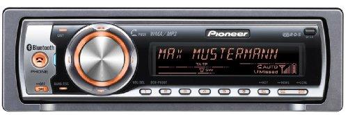 Pioneer DEH P 65 BT CD-Tuner (Bluetooth, AUX-In, Apple iPod Direktsteuerung, Dual Zone Colour) schwarz