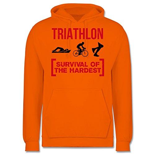Sonstige Sportarten - Triathlon - Survival of the hardest - Männer Premium Kapuzenpullover / Hoodie Orange