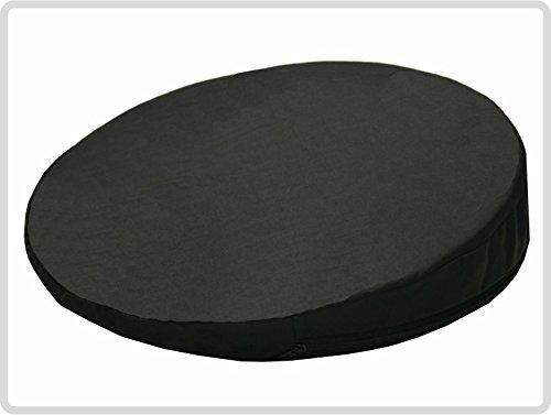 Orthopädisches Keilkissen, RUND Ø 36 cm, 100 % Baumwollbezug! - Farbe: schwarz - Kissen Sitzkissen Sitzkeilkissen Sitzkissen Sitzkeil *Top-Qualität zum Top-Preis* - Runde 36
