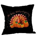 TENDYCOCO 18x18 Zoll Thanksgiving Dekokissen Abdeckung Dekorative Leinen Kissen Fall Kissen Schutz für Home Schlafsofa Stuhl (5)